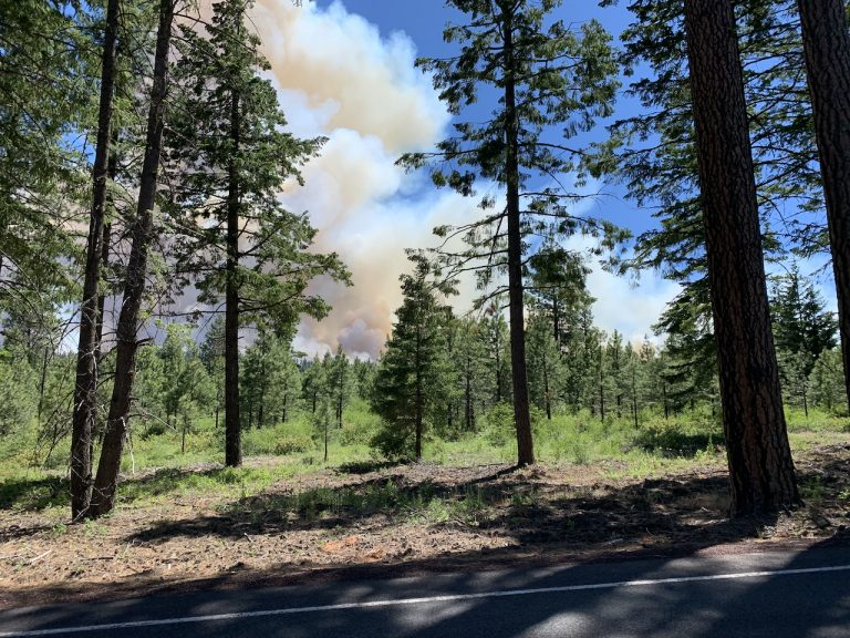 S-503 fire, south of highway 216, June 19, 2021