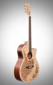 Luna Henna Oasis acoustic-electric guitar